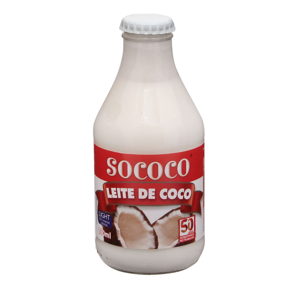 ace0b5867 Leite de coco light Sococo 200ml - Casa Santa Luzia
