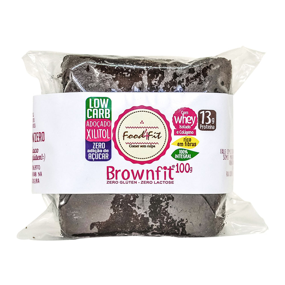 Brownie Food4fit Sem Glúten 100g - Casa Santa Luzia